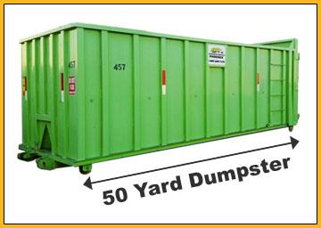 50-Yard-Dumpster